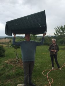 Arrival of the composting bin