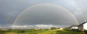 rainbow over Athez